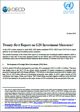 UNCTAD-OECD Report on G20 Investment