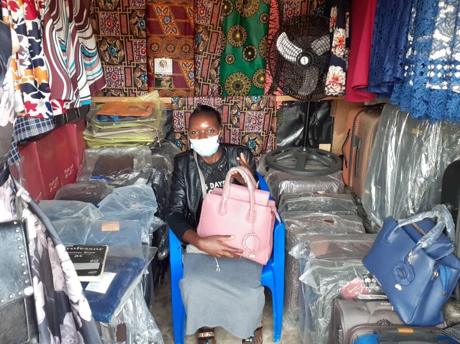 Charity Chimphamba in her store