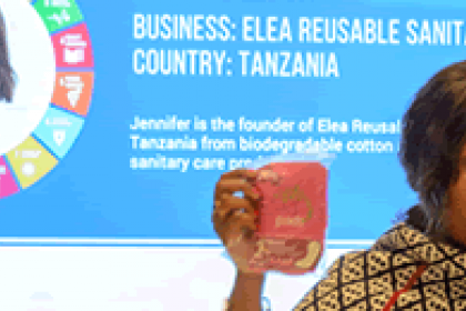 "Woman entrepreneur from Tanzania wins ""Start-up for SDGs"" contest"