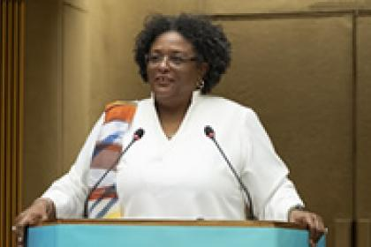 Barbados leader urges moral leadership to tackle climate crisis